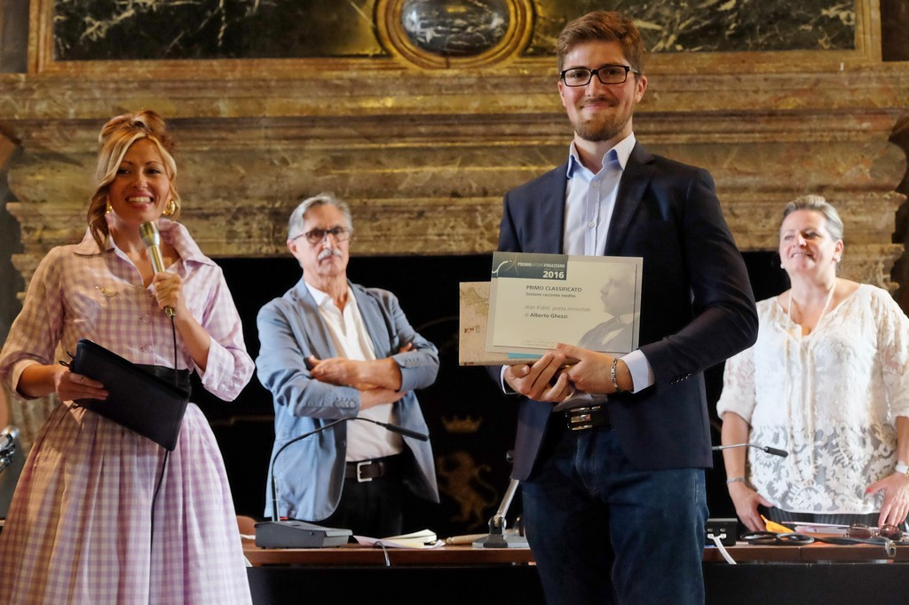 Alberto Ghezzi, primo premio per il Racconto inedito, con Rossella Pretto