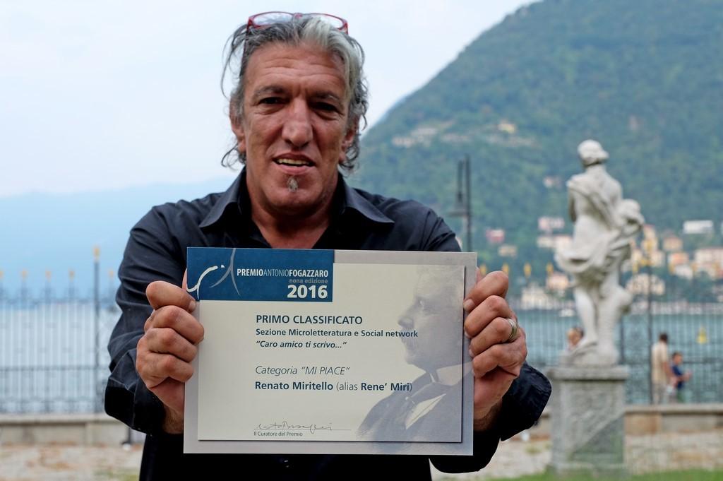 """Rene' Miri, I premio Mi Piace per Microletteratura - sezione """"Mi Piace"""""""