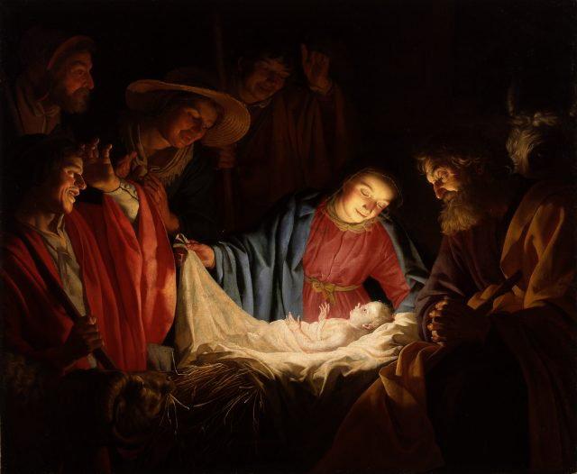Gerard van Honthorst - Adorazione con pastori