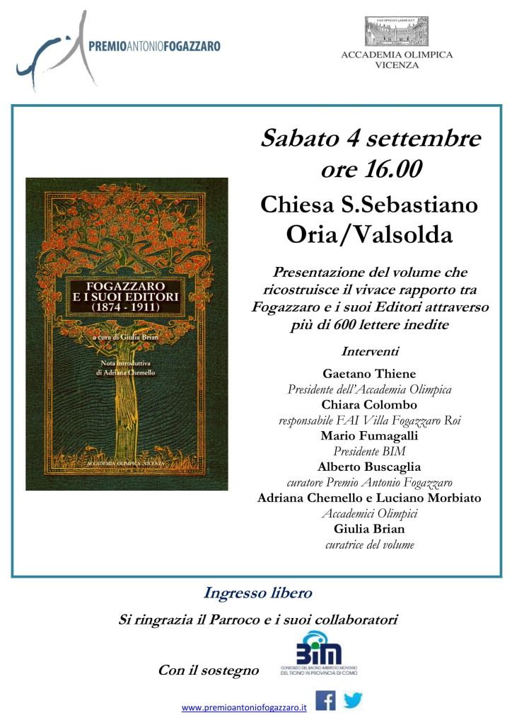 locandina ORIA libro Fogazzaro Editori-1